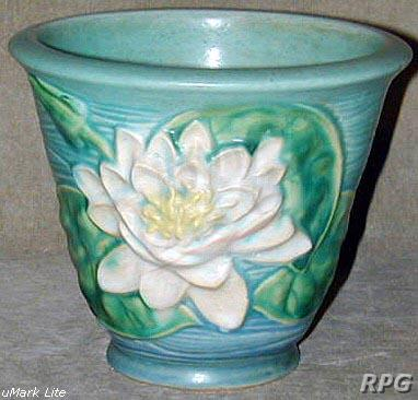 Roseville Pottery Water Lily Pattern Values And Images